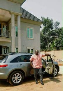 Chuks at his new home in his village in Imo state