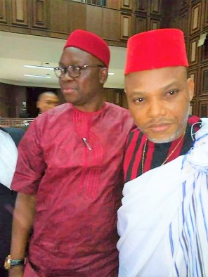 Nnamdi Kanu in court with Ayo Fayose 25/4/2017 , The Republican News