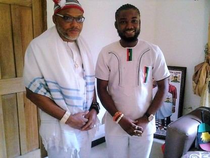 Mazi Nnamdi Kanu pose with Don Prince, The Republican News