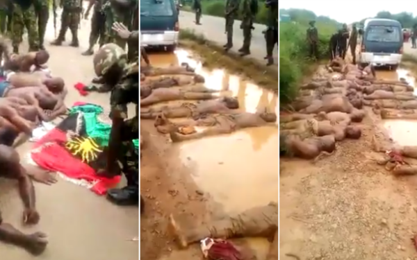 Soldiers-IPOBmembers in Aba