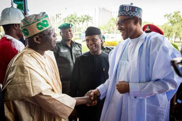 Image result for I'll work for your second term, Tinubu promises Buhari