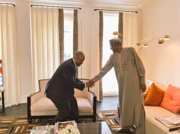 Godswill-Akpabio-meets-president-Buhari-in-London